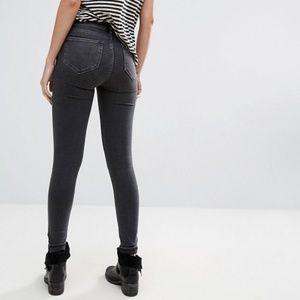 All saints grace skinny jeans washed black sz 27